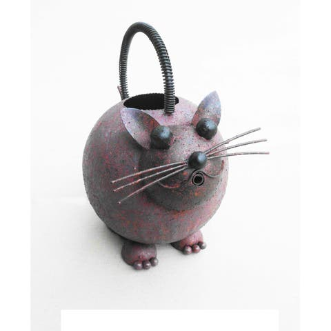 Handmade D-Art Iron Cat Watering Can (Indonesia)