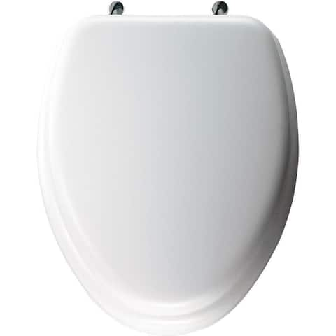 Bemis Elongated Closed Front White Toilet Seat