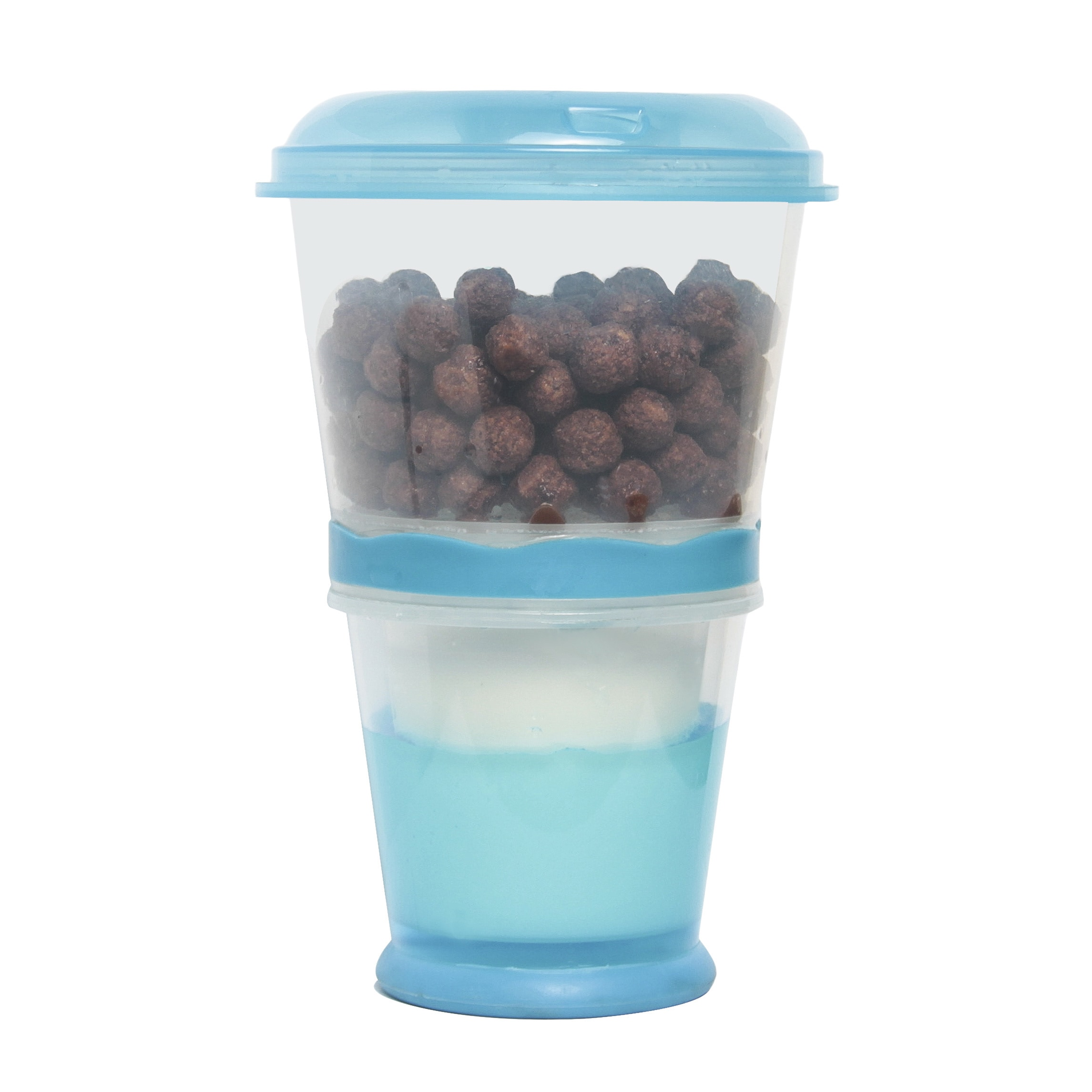 Cereal On-the-Go Freeze Gel Travel Food Storage Container...