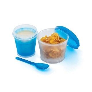 Cereal On-the-Go Freeze Gel Travel Food Storage Container