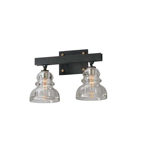 troy lighting menlo park 2 light bath sconce free shipping today. Black Bedroom Furniture Sets. Home Design Ideas