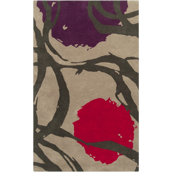 Hand-Tufted Holt Abstract New Zealand Wool Area Rug