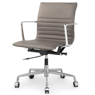 QUINZE Office Chair In Sand Italian Leather