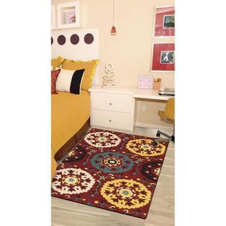 Rug Squared Ventura Red Rug (2'6 x 4')
