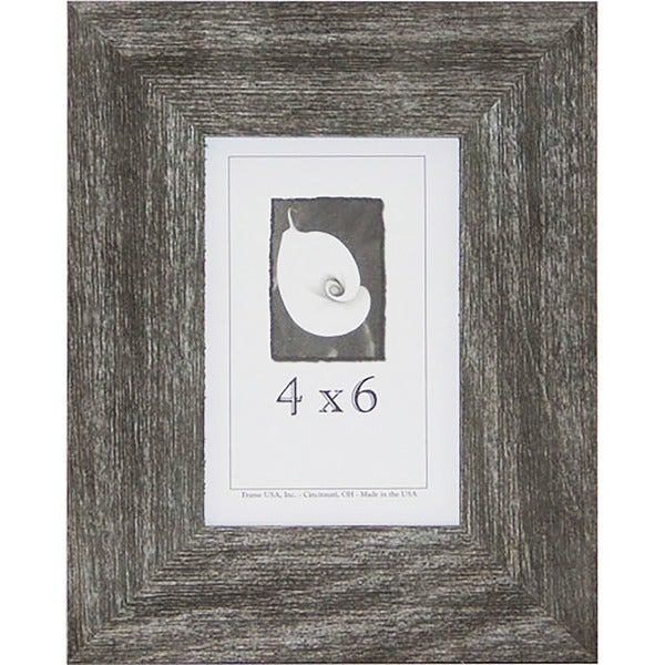 shop farmhouse barnwood picture frame 4 inch x 6 inch free shipping on orders over 45. Black Bedroom Furniture Sets. Home Design Ideas