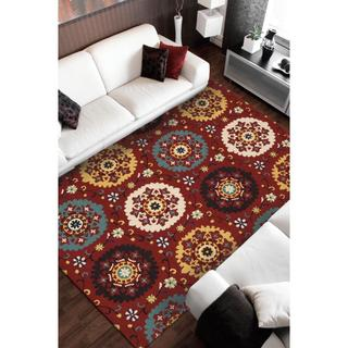Rug Squared Ventura Red Rug (3'9 x 5'9)