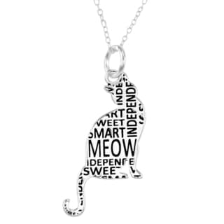 Silverplated Cat Necklace