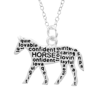 Silverplated Horse Necklace