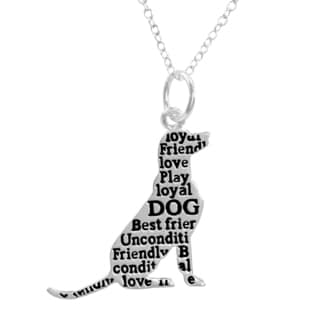 Silverplated Best Dog Necklace