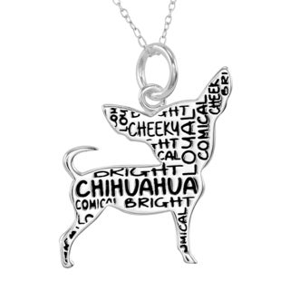Silverplated Chihuaua Necklace