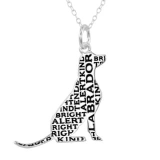 Silverplated Labrador Necklace