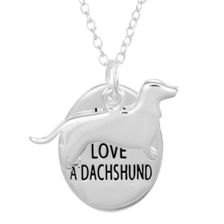 Silverplated Dachshund