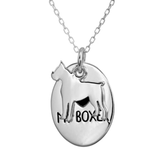 Silverplated Boxer Necklace