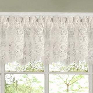 Luxurious Old World Style Lace Kitchen Curtains- Tiers and Valances in Cream (4 options available)