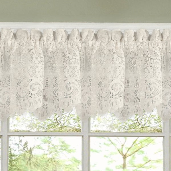 Luxurious old world style lace kitchen curtains tiers and for Old world curtains and drapes