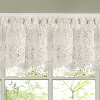 Luxurious Old World Style Lace Kitchen Curtains- Tiers and Valances in Cream|https://ak1.ostkcdn.com/images/products/10050988/P17195248.jpg?impolicy=medium