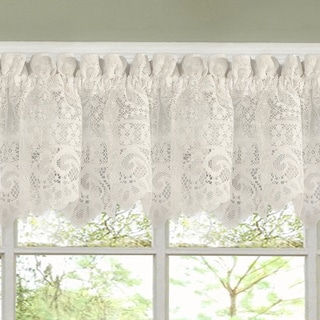 Incroyable Luxurious Old World Style Lace Kitchen Curtains  Tiers And Valances In Cream