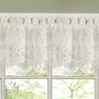 Luxurious Old World Style Lace Kitchen Curtains  Tiers And Valances In Cream