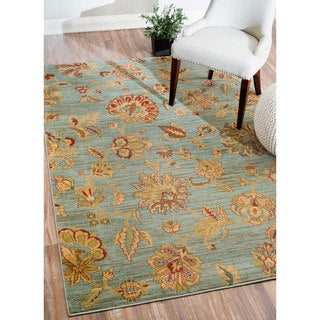 Nuloom Traditional Vintage Fancy Floral Grey Multi Rug 7