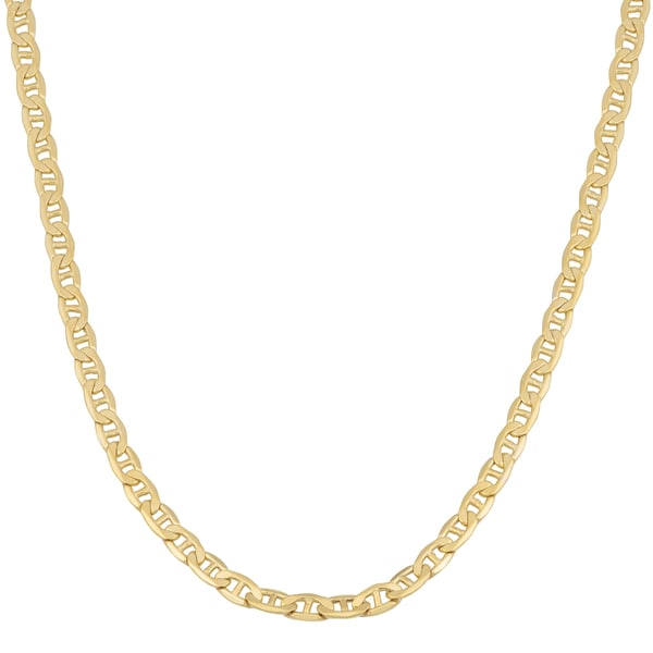 Fremada 10k Yellow Gold 3.3-mm Mariner Link Chain Necklace (18 - 24 inches)