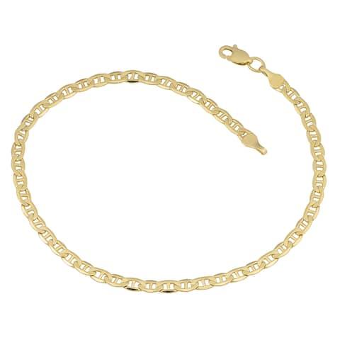 Fremada 10k Yellow Gold 3.3-mm High Polish Mariner Link Bracelet (8.5 inches)