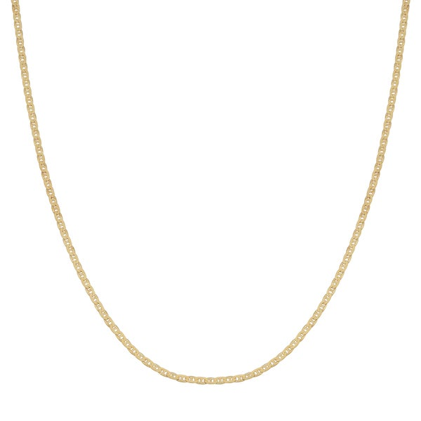 Fremada 14k Yellow Gold 1-mm Mariner Link Chain Necklace (16 - 20 inches)