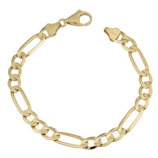 Fremada 10k Yellow Gold 7.2-mm Men's Figaro Link Bracelet (8 inches)