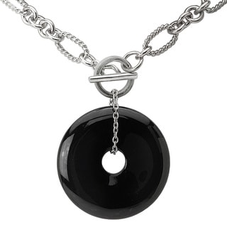 Avanti Sterling Silver Black Onyx Necklace