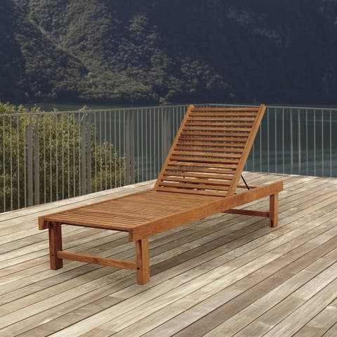 Tottenville Modern Patio Wood Lounger Chair by Havenside Home