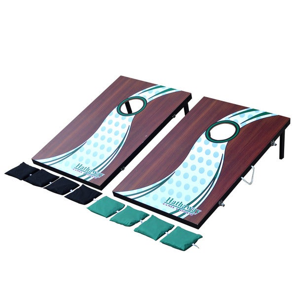 Hathaway Cornhole Bean Bag Toss Game Set