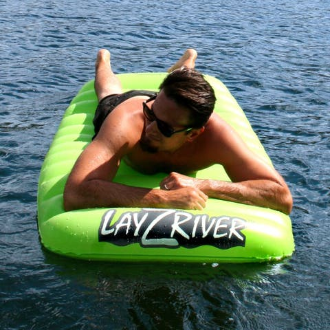 LayZRiver Inflatable 1-Person Swim Float Mattress - Green