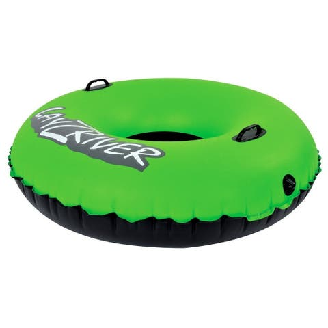 LayZRiver 47-inch Inflatable Swim River Float Tube - Black/Green