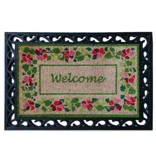 First Impression Summer Flower Welcome Tray Mat