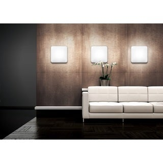 JESCO Classic Square Driverless LED Ceiling Fixture/ ADA Sconce with Acrylic Shade