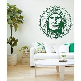 Native Indian Chief Sticker Vinyl Wall Art