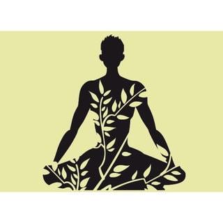 shop lotus yoga pose om sticker vinyl wall art  overstock