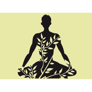Shop Lotus Yoga Pose Om Sticker Vinyl Wall Art Overstock 10051408