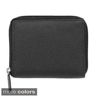 YL Fashion Women's Leather Zip-around Wallet