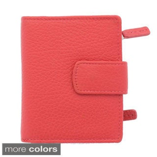 YL Fashion Women's Leather Bi-fold Tab Wallet