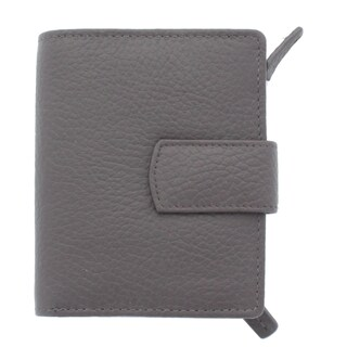 YL Fashion Women's Leather Bi-fold Tab Wallet