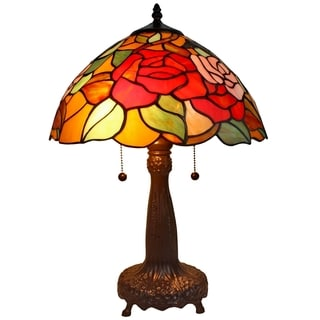 Amora Lighting Tiffany Style 20-inch Floral Table Lamp