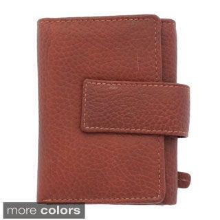 YL Fashion Women's Leather Tabbed Tri-fold Wallet