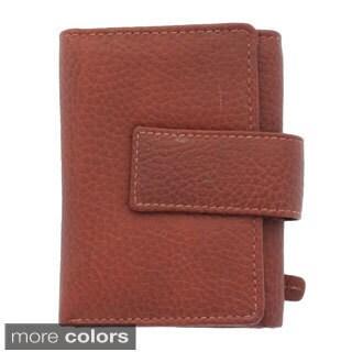 YL Fashion Women's Leather Tabbed Tri-fold Wallet