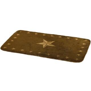 HiEnd Accents One Star Dark Chocolate 30x50-inch Acrylic Rug