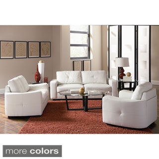 Jess Leather 3 Piece Living Room Collection