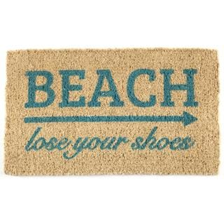 'Lose Your Shoes' Handwoven Coconut Fiber Doormat