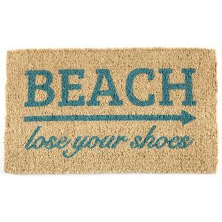 'Lose Your Shoes' Handwoven Coconut Fiber Doormat (As Is Item)