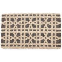Ring Formations Handwoven Coconut Fiber Doormat