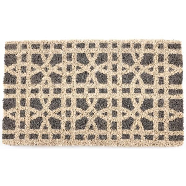 Ring Formations Handwoven Coconut Fiber Doormat