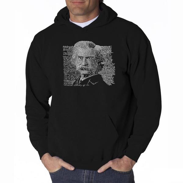 LA Pop Art Mens Mark Twain Hooded Sweatshirt